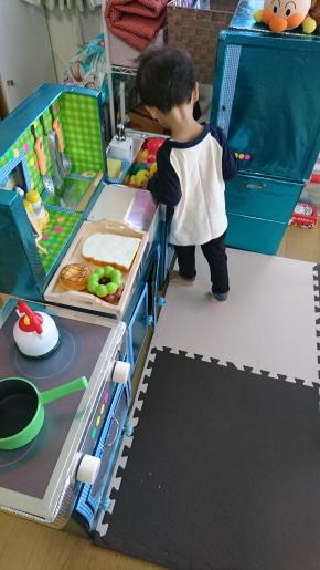 段ボールキッチン